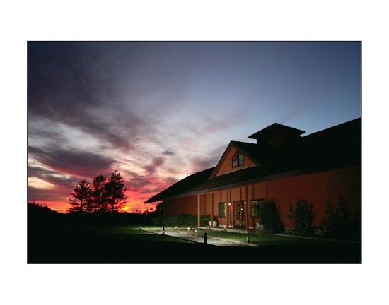 Fiery Sunset at Benovia Winery