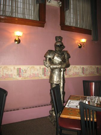 The Beefeaters Restaurant : Knight inside of Beefeater's