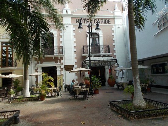 Caribe Hotel:                   The hotel is tucked into a corner of Hidalgo Park