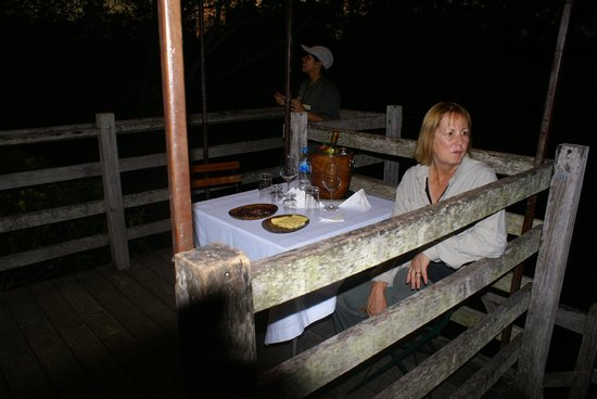 Inkaterra Reserva Amazonica: Dinner in the canopy
