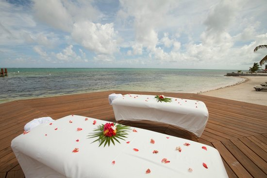 Grand Caribe Belize Resort and Condominiums: Massage for Two on Outdoor Spa Deck