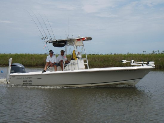 Shore Thing Fishing Charters: Four twenty four foot bay boats in our fleet
