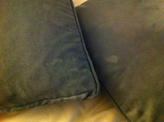 Beacon Pointe Resort:                                     Stained pillows.