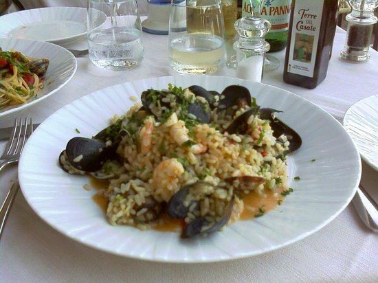 Hotel Margherita:                   Risoto de frutos do mar