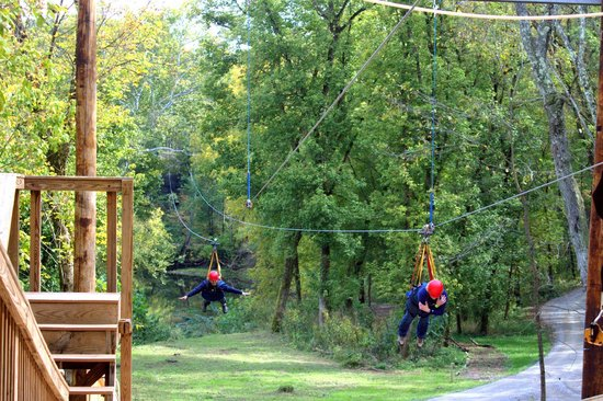 Hocking Hills Canopy Tours:                   Super Zip!