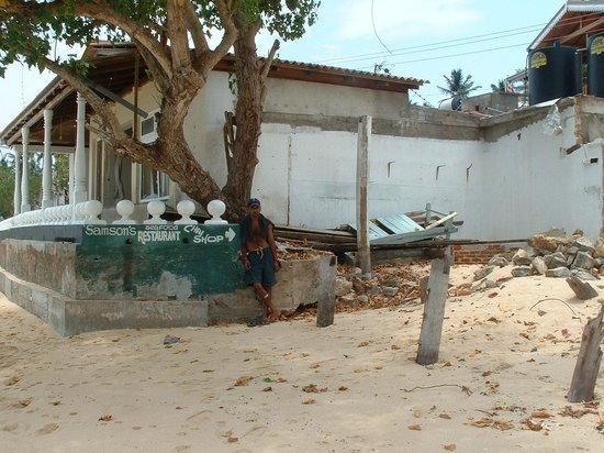 Samson Restaurant:                   After the tsunami