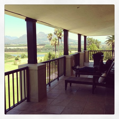 Asara Wine Estate & Hotel:                   Room Balcony