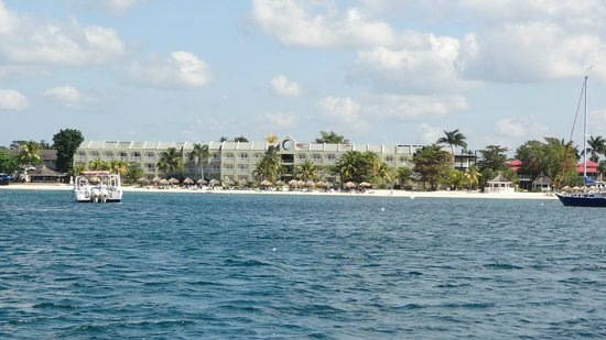 Sandals Negril Beach Resort & Spa:                   view of building from the water