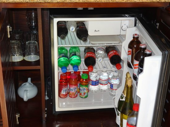Sandals Negril Beach Resort & Spa:                   nicely stocked refrigerator