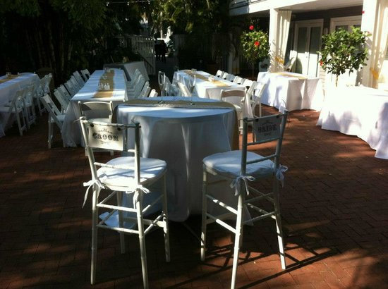 Ambrosia Key West Tropical Lodging:                   Wedding Reception