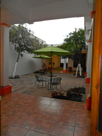 Casa Los Arquitos B&B :                   View from our room entrance