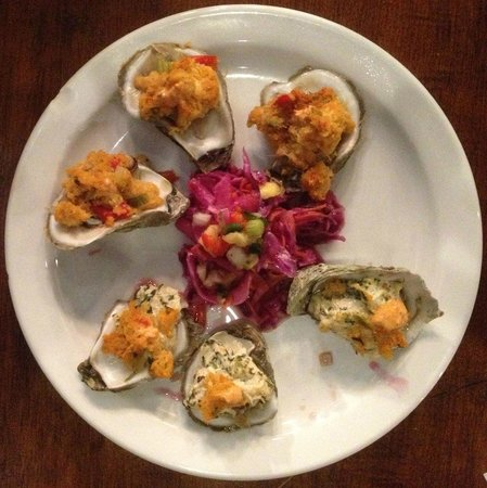 Austin Street Bistro:                                     Fiesta Oysters and Oysters Rockefeller