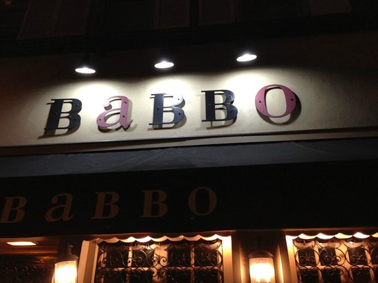 Babbo: Entrance