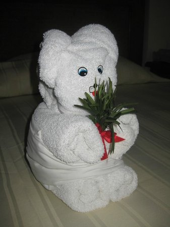 Golden Parnassus Resort & Spa:                   Cute little towel animal
