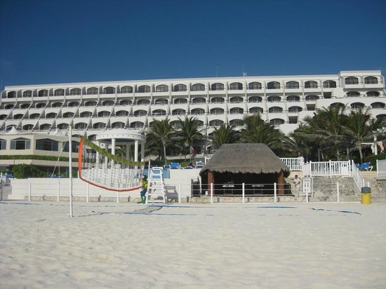 Golden Parnassus Resort & Spa:                   Back View of the Resort, Beach