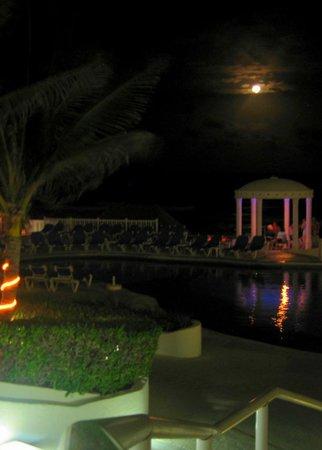 Golden Parnassus Resort & Spa:                   Moon view of pool and gazebo