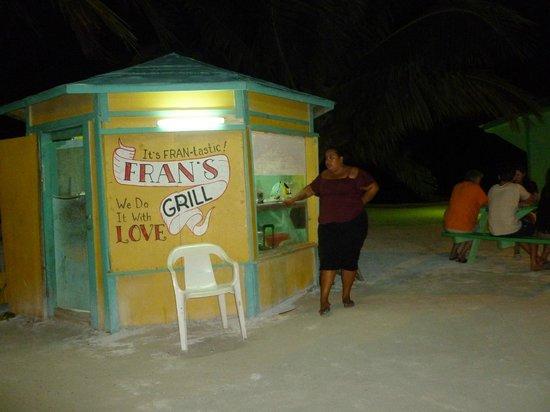 Fran's Grill:                   Beach front Open Air BBQ
