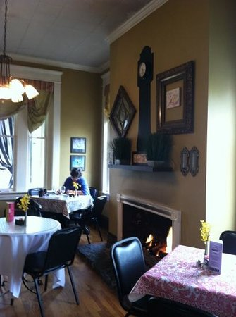 Goodness Gracious Catering & Cafe:                                     Cozy fireside room
