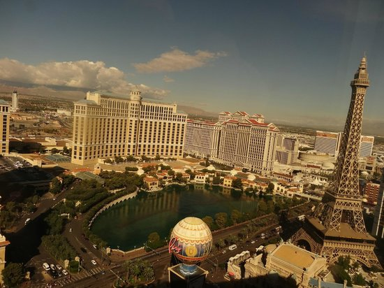 Planet Hollywood Resort & Casino:                                     Awesome Views from our room (50th floor, fountain view room)