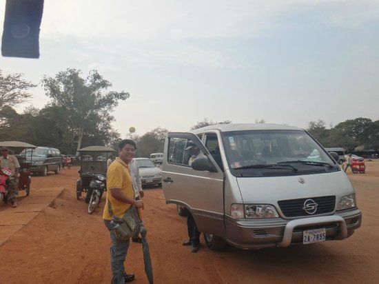 Angkor Wat Tour Guides:                   our ride - an airconditioned van