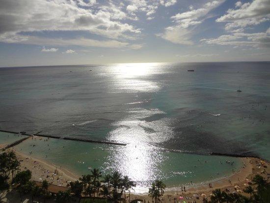 Aston Waikiki Beach Tower: The view from our lanai