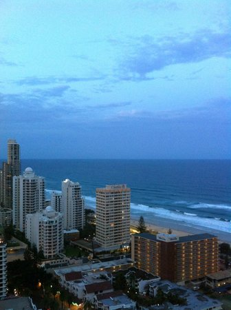 Hilton Surfers Paradise Hotel:                   The Pacific Ocean view from the 27th floor