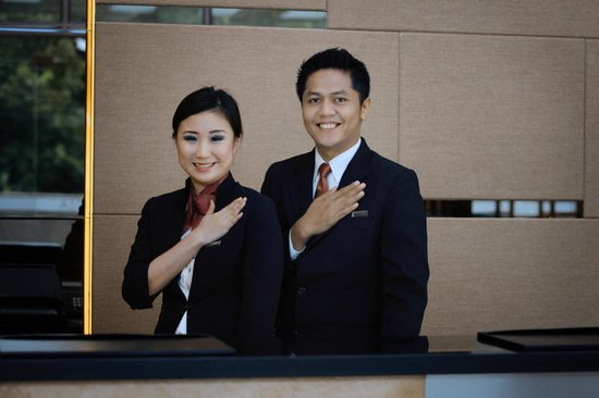 Aston Pluit Hotel & Residence : Greeting from our staff