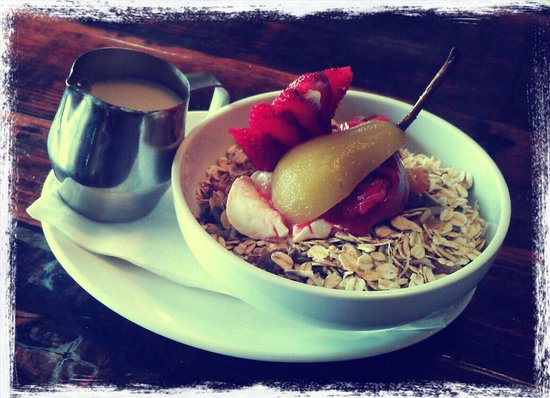 The Red Till: Home made Muesli with poached fruit