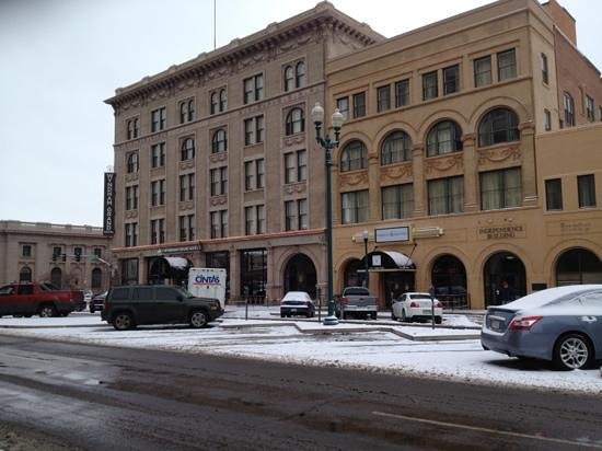 The Mining Exchange, A Wyndham Grand Hotel & Spa:                   on a snowy January