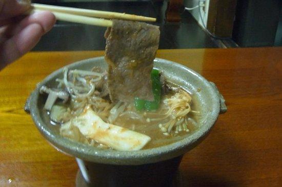 Sosuke:                   夕食・飛騨牛の陶板焼き