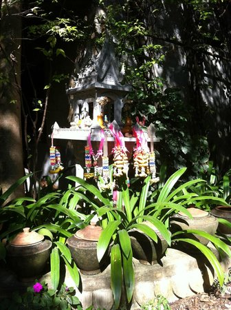 Santitham Guest House:                   Shrine in garden