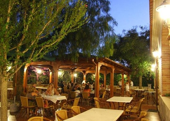 Sala esterna immersa nel verde foto di ristorante - Il giardino di mezzanotte ...