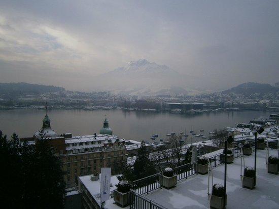 Art Deco Hotel Montana Luzern:                   view from room