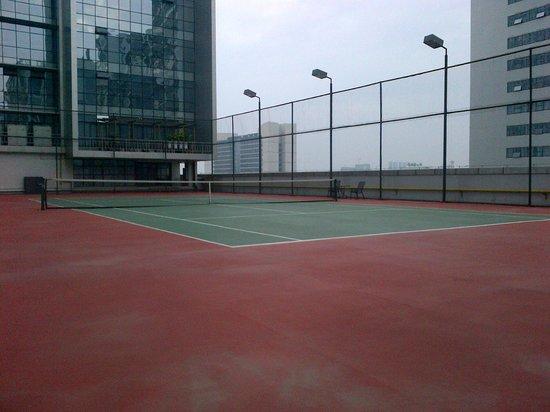 Radisson Blu Hotel Liuzhou:                   roof top tennis court
