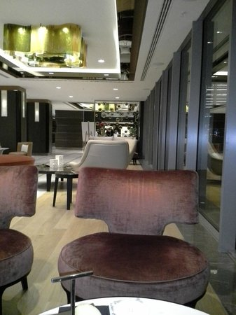 Renaissance Istanbul Bosphorus Hotel:                   New Seating Area after Executive Lounge Closed. Straight ahead is the Front De