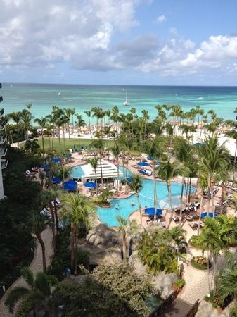 Aruba Marriott Resort & Stellaris Casino:                                     View from my balcony...