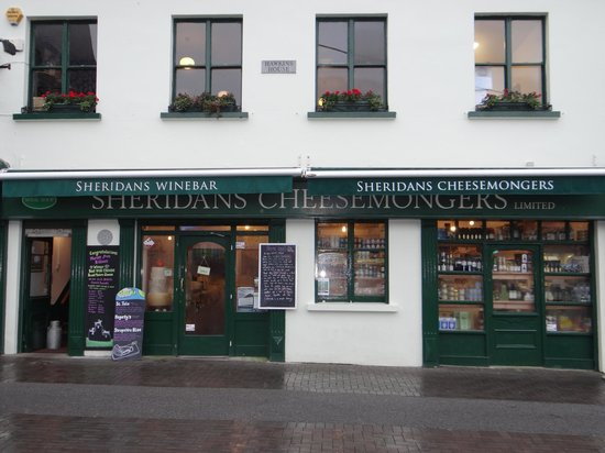 Sheridans Cheesemongers: Full view of the store - the cheese and wine bar is upstairs.