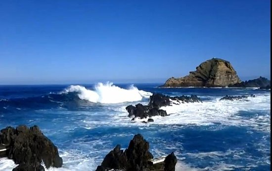 Porto Moniz Natural Swimming Pools:                   Raging sea at Porto Moniz