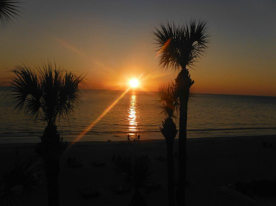 Doubletree Beach Resort by Hilton Tampa Bay / North Redington Beach:                   From our balcony.  Just beautiful sunset views