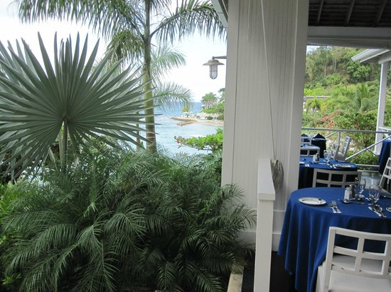 Round Hill Hotel & Villas:                   View from upper dining area