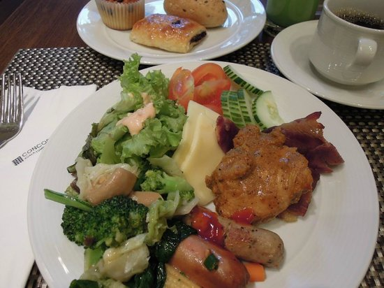 โรงแรมคอนคอร์ดกัวลาลัมเปอร์:                                     朝食の質、量、種類などすばらしい