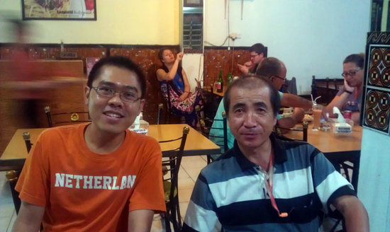 Mambo Restaurant:                                     With Mr Hime from japan