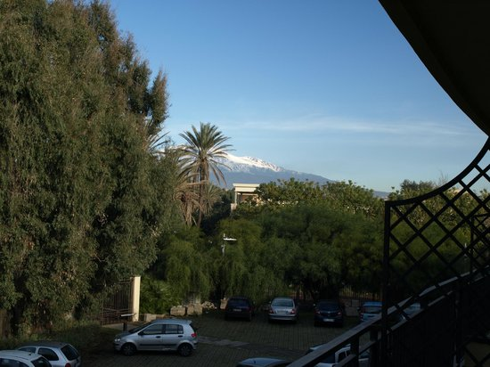 NH Catania Parco Degli Aragonesi:                   Part view of Mt Etna from our balcony