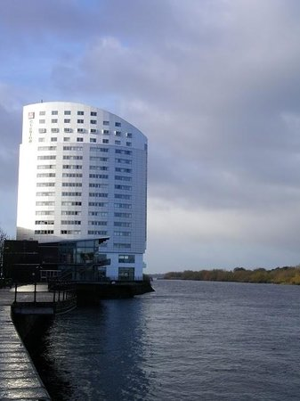 Clarion Hotel Limerick:                   View of Hotel from River Walk