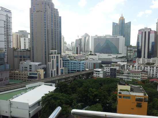 Adelphi Suites Bangkok:                   View from the Pool Area over BKK