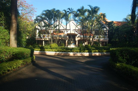 Coco Reef Tobago:                   The front from the garden