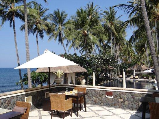 Spa Village Resort Tembok Bali: Restaurantterrasse