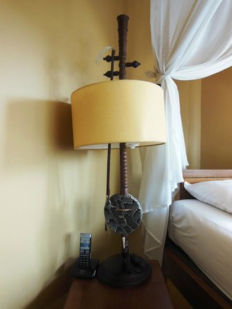 The Villa Paradiso:                   Table Lamp in the Music Room