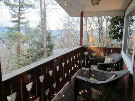Asheville Swiss Chalets:                   Balcony