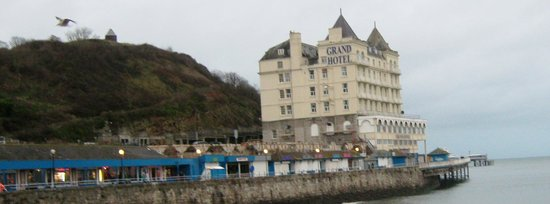 The Grand Hotel - Llandudno:                                     From further down the road so locations as you see is fab